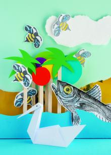Big Draw October Half Term: FantasyWorld! 3-D Paper Modelling and Collage with Liza Morgan